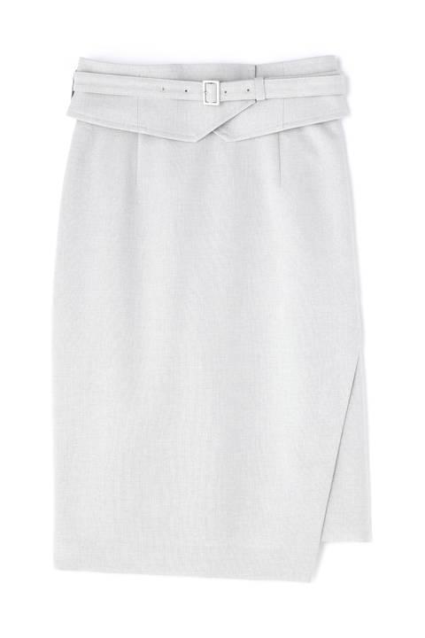 ドライポプリンカマーベルト付きタイトスカート