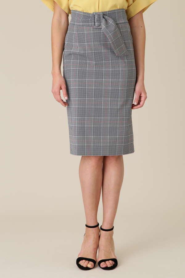 コンパクトベルト付きタイトスカート