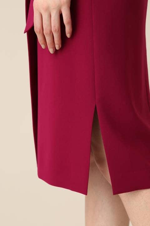 ダブルサテンラップデザインスカート