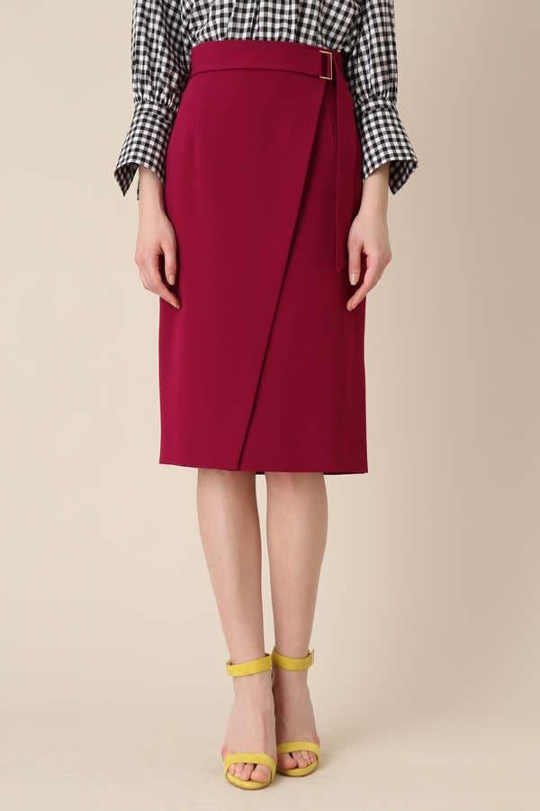 【先行予約 4月下旬 入荷予定】ダブルサテンスカート