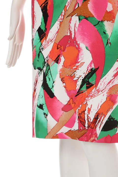 ◆ドラマ 泉里香さん着用◆ウエストクロスタック プリント ワンピース