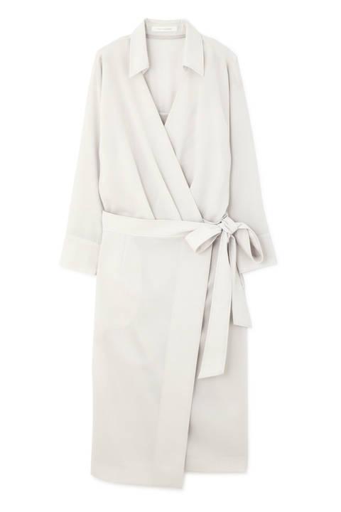 カシュクールラップシャツ ワンピース