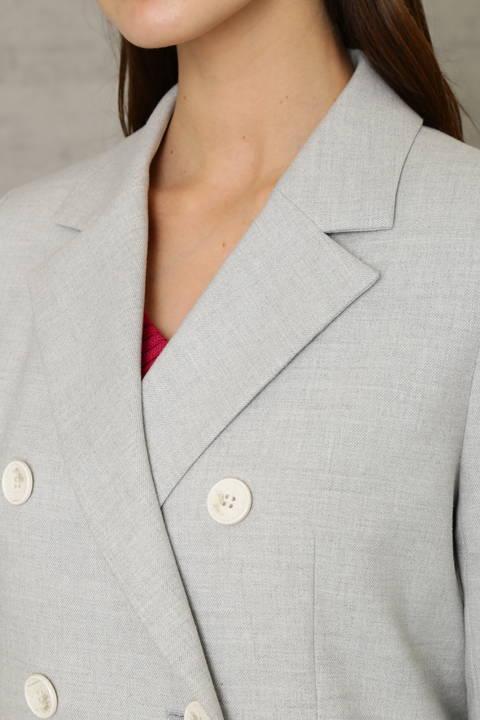 ライトグレー ダブルブレストジャケット