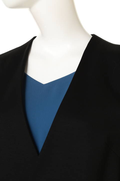ノーカラーラップコーディガン