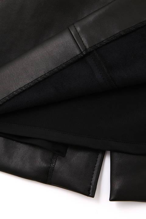 【先行予約 9月下旬-10月上旬入荷予定】フェイクレザーペンシルスカート