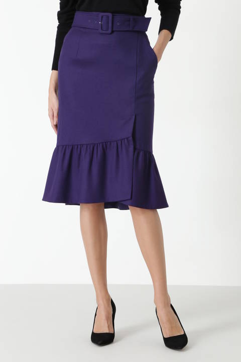 【ドラマ 中村アンさん着用】[TV着用]カラーフラノマーメイドラップスカート