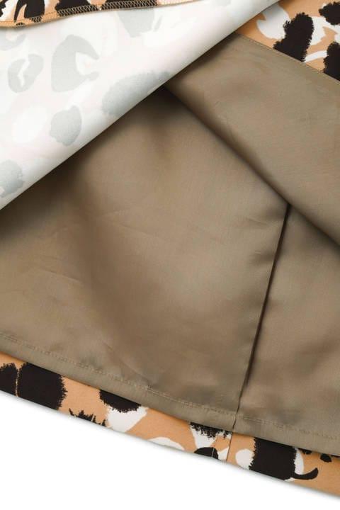 アブストラクトアニマルプリントスカート