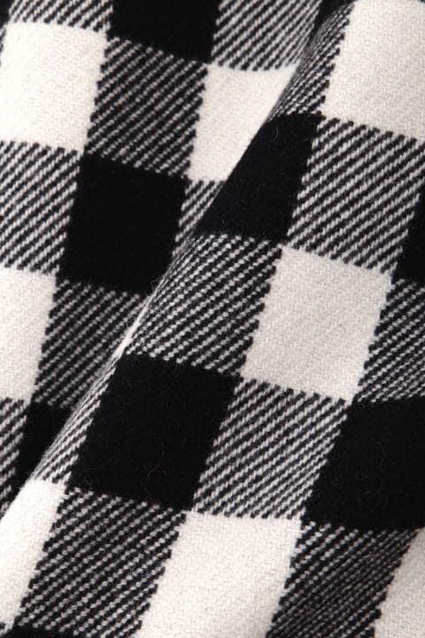 【ドラマ 新木優子さん着用】ブロックチェックウールミニスカート