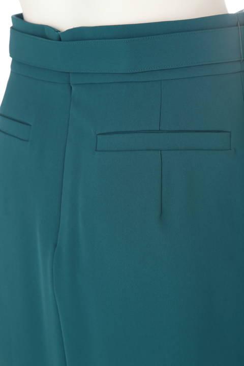 アシンメトリーラッフルカラースカート