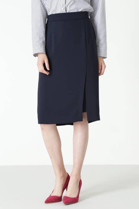 【高橋真麻さん着用】レイヤードスリットセットアップスカート