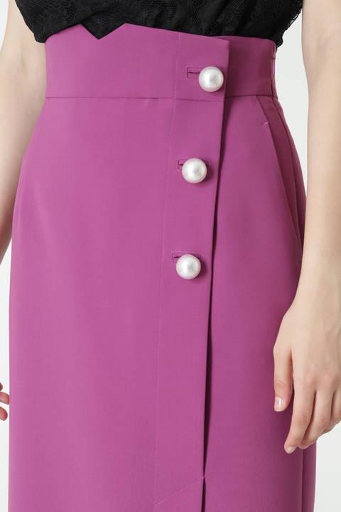 BIGパールポイントカラーラップスカート