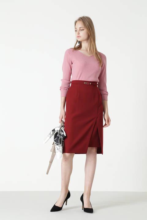 ダブルクロスレイヤードスリットスカート