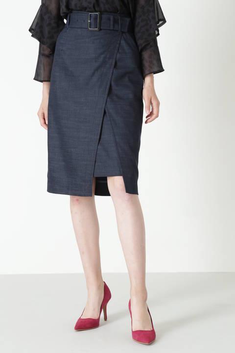 【先行予約 8月下旬 入荷予定】フロントラップスカート
