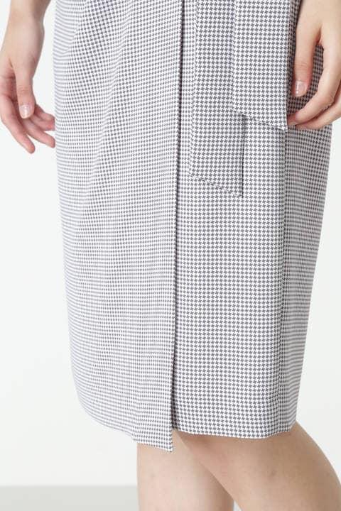 ハウンドトゥースドレープラップスカート