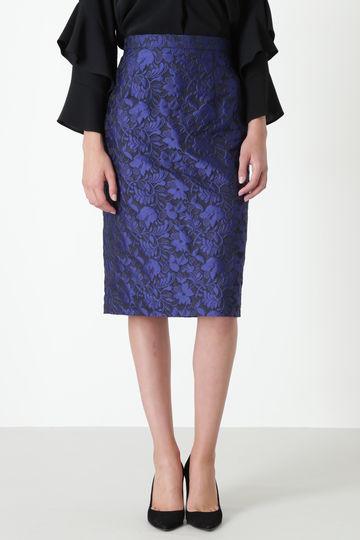 【先行予約 9月中旬 入荷予定】フラワージャガードタイトスカート