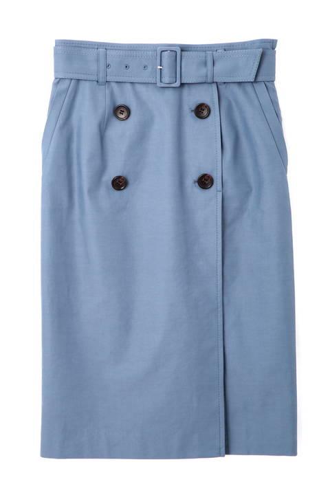 ダブルボタントレンチスカート