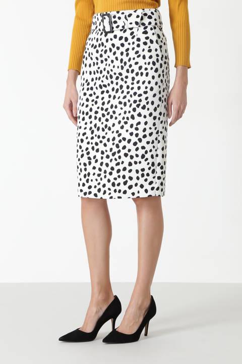 アニマルドットプリントタイトスカート