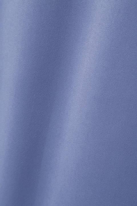 [WEB限定カラー・マスタード]ピーチサテンワイドパンツ