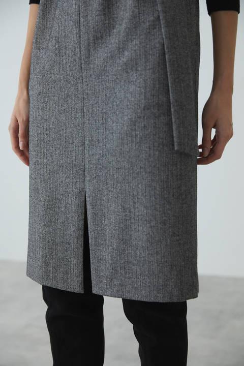 ウールヘリンボーンジャンパースカート