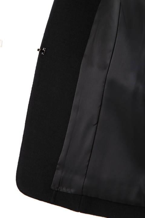 ウール圧縮バックペプラムジャケット