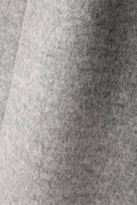 カシミヤ10%ファー付きリボンベルトコート