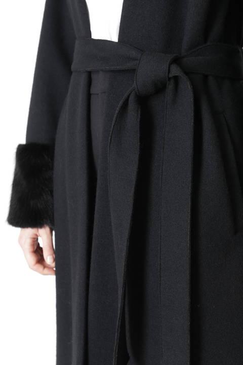 リバージャージそでファー付きコート