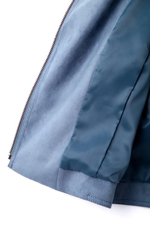 カラーフェイクスエードライダースジャケット