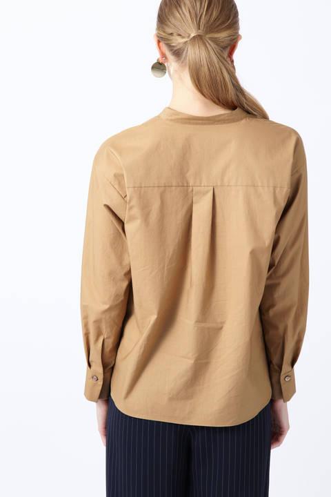シルキーコットンスタンドスキッパーシャツ
