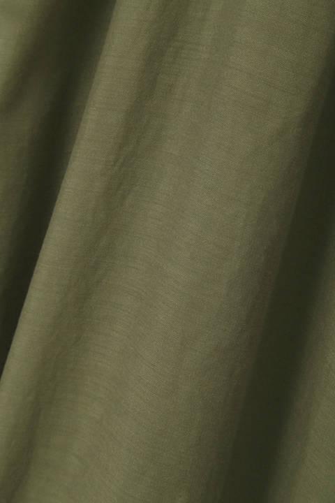 シアーボイルノーカラーシャツ