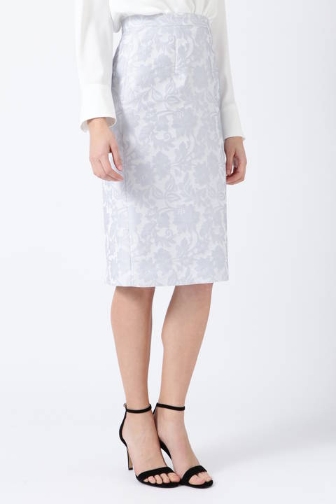 フラワークロスジャガードスカート
