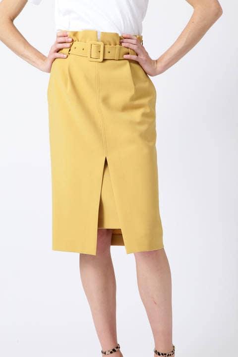 ダブルクロスフロントスリットスカート