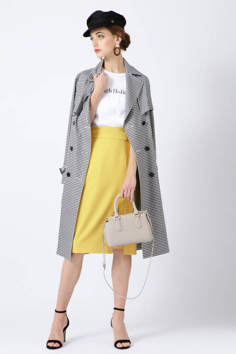 ダブルスリットレイヤードスカート