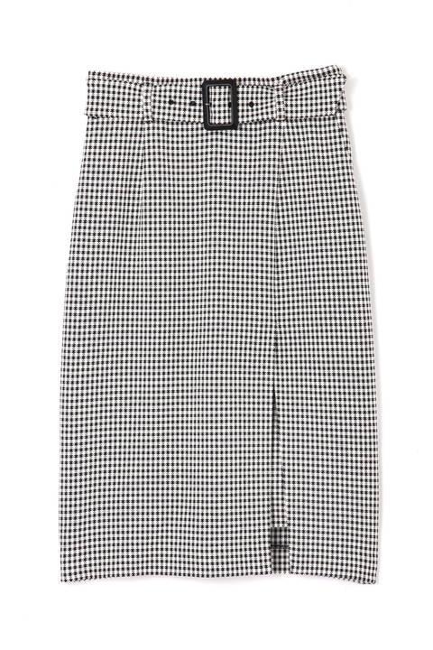 ギンガムストレッチラップレイヤードスカート
