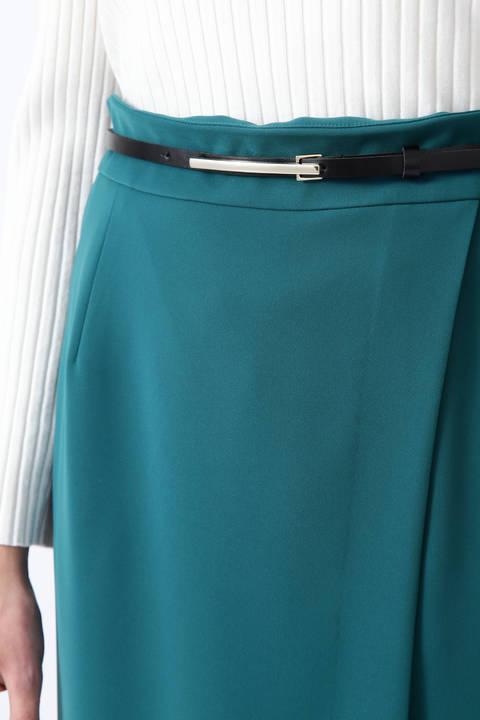 ダブルクロスラップレイヤードスカート