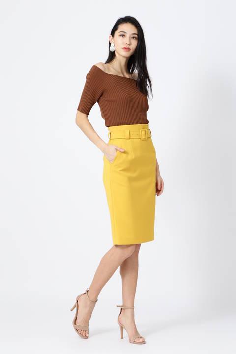 【先行予約 3月下旬-4月上旬 入荷予定】サイドZIPスリットカラースカート