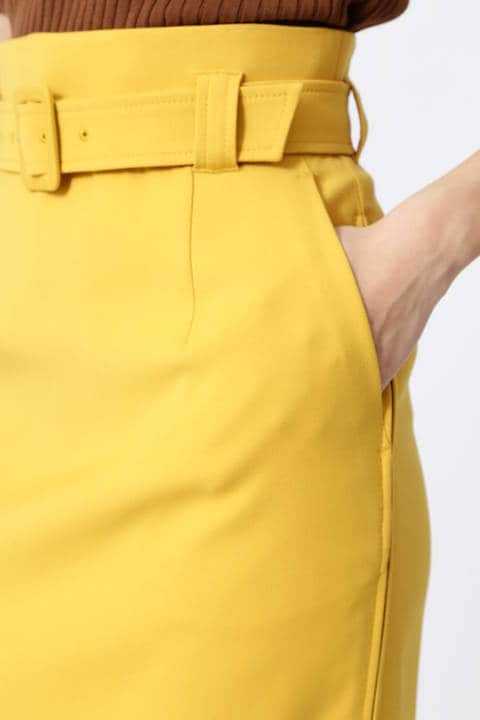 サイドZIPスリットカラースカート