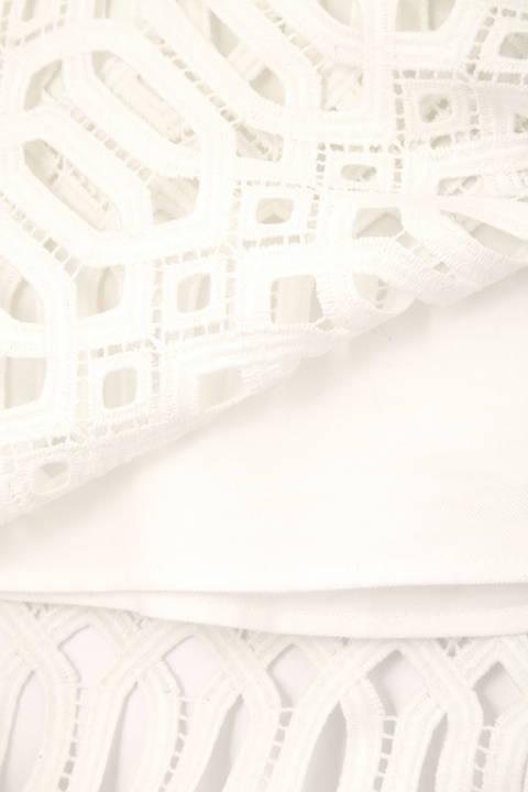 【先行予約 3月下旬-4月上旬 入荷予定】ジオメトリックレースペンシルスカート