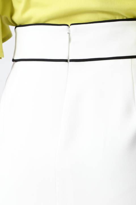 【先行予約 3月下旬-4月上旬 入荷予定】バイカラートリミングラップスカート