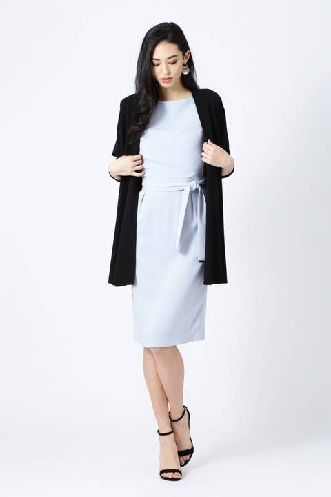 【ドラマ 桜井ゆきさん着用】[ウォッシャブル]ウエストリボンセットアップスカート
