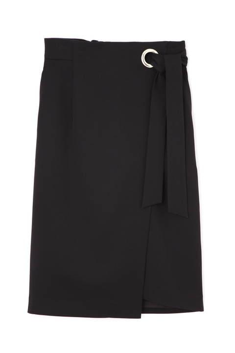 【先行予約 4月中旬-4月下旬 入荷予定】ワイドハトメラップリボンスカート