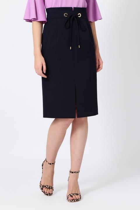 【先行予約 5月中旬-下旬入荷予定】ハトメウエストスリットスカート