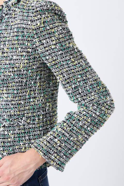 カラーノットMIXツイードジャケット