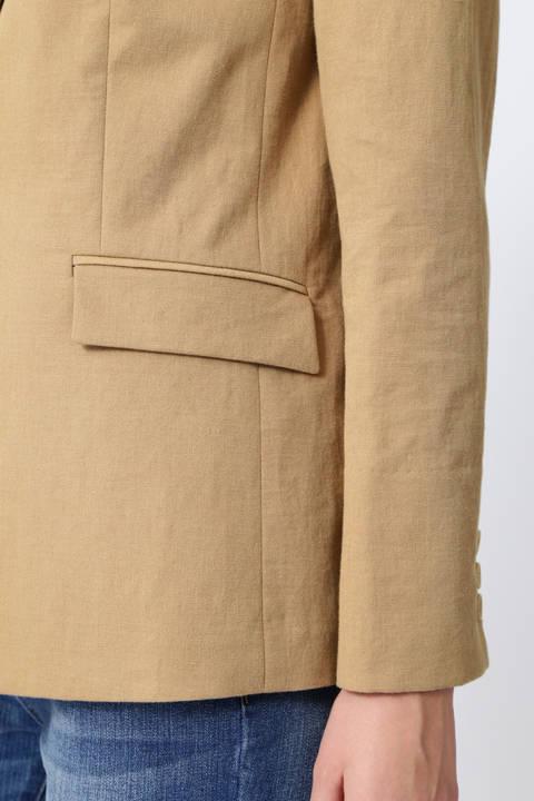 【雑誌 Oggi 5月号掲載】綿麻スラブテーラードジャケット