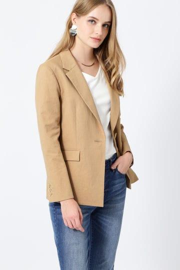綿麻スラブテーラードジャケット