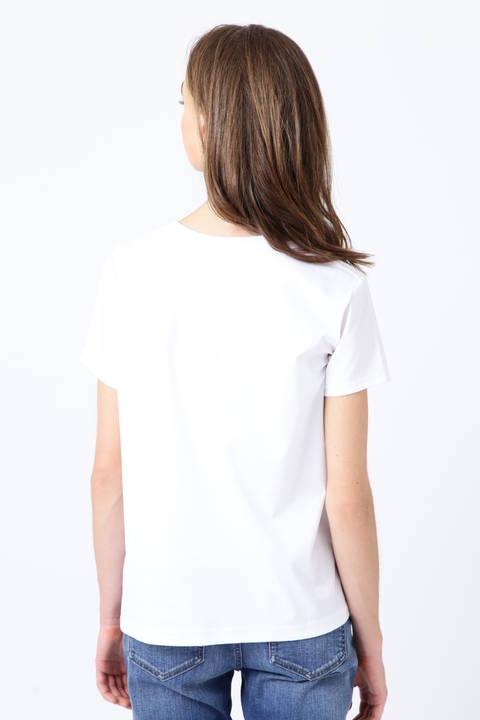 クリアーコットンロゴTシャツ