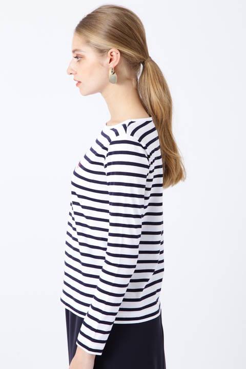 マリンボーダーロゴTシャツ