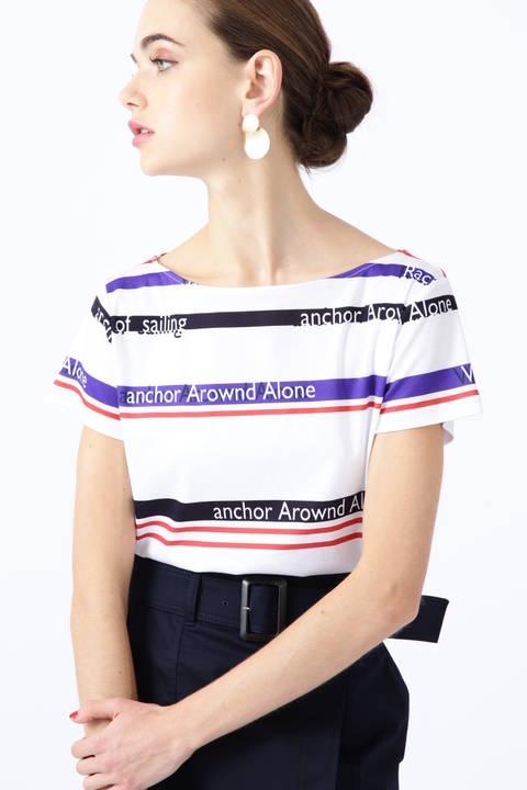 (FAIR限定商品)マリンボーダープリントビックTシャツ