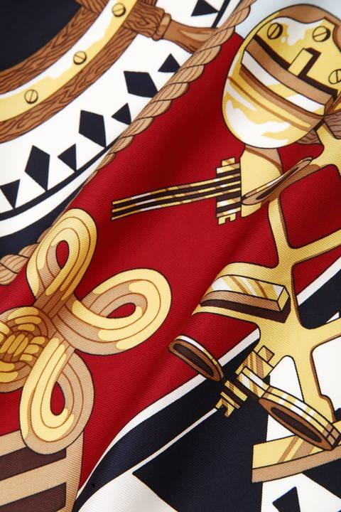 シルクププリントスカーフ