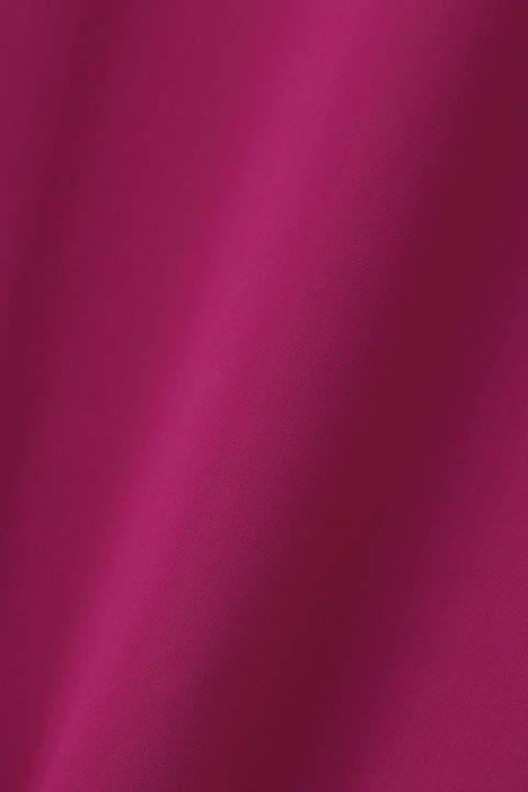 [ウォッシャブル]マットサテンギャザースリーブブラウス