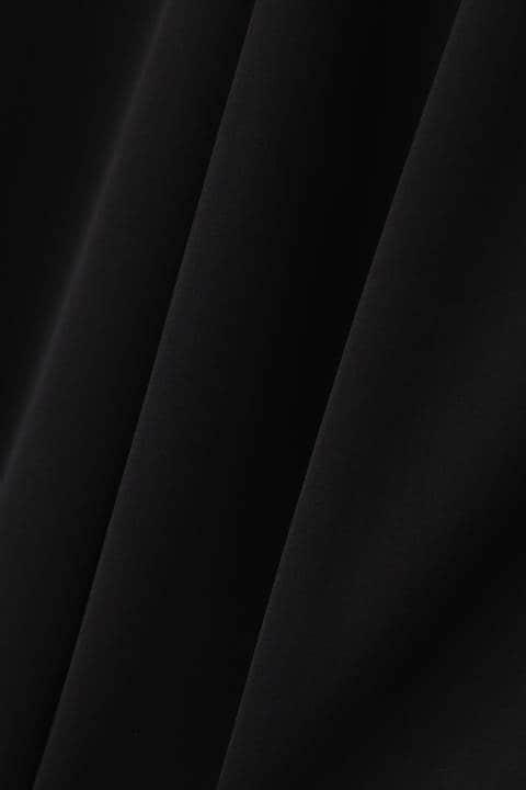[ウォッシャブル]ダブルサテンボウタイブラウス